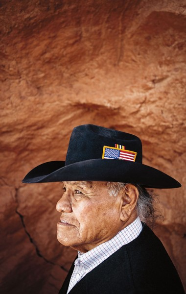 Apache elder who is leading efforts to save New Mexico's Otero Mesa from mining development, for Sierra. Photograph by Ryan Heffernan '05