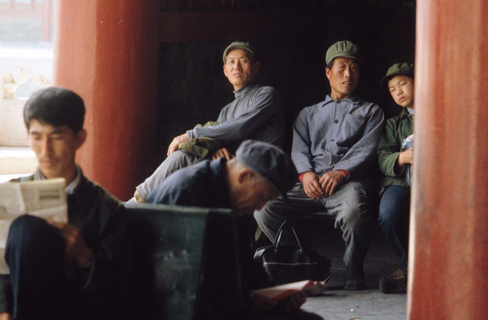 Factory workers wear drab but politically safe clothing. Photograph by Steve Stone '83.