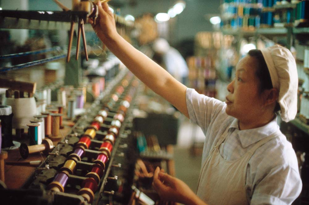Long an economy focused on heavy industry, China's reforms under Deng Xiaoping by 1981 were slowly steering China toward becoming a capitalist and consumer economy. Photograph by Steve Stone '83.
