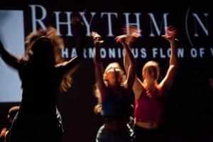 The Bates Dance Company. Photograph by Phyllis Graber Jensen/Bates College.
