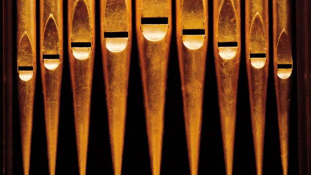 Pipes of the Erben organ in the Gomes Chapel.  Photograph by Phyllis Graber Jensen