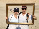 Carine Warsawski '07 and Rachel Warner '08 meet up atop Masada