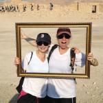 Carine Warsawski '07 and Rachel Warner '08 meet up atop Masada