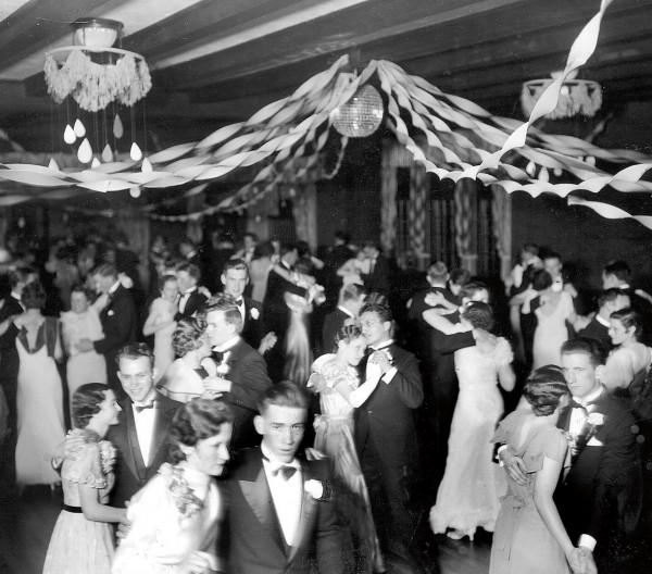 After Bates lifted its ban on dancing in 1922, Chase Lounge was where students went cheek to cheek. Photograph courtesy of Edmund S. Muskie Archives and Special Collection Library