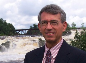 Professor Emeritus of Political Science Douglas Hodgkin. Photograph courtesy of the Androscoggin Historical Society.