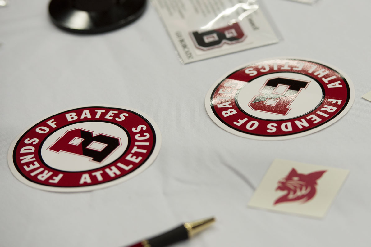 Bates memorabilia adorns the tables at GAME Day on May 4, 2013.