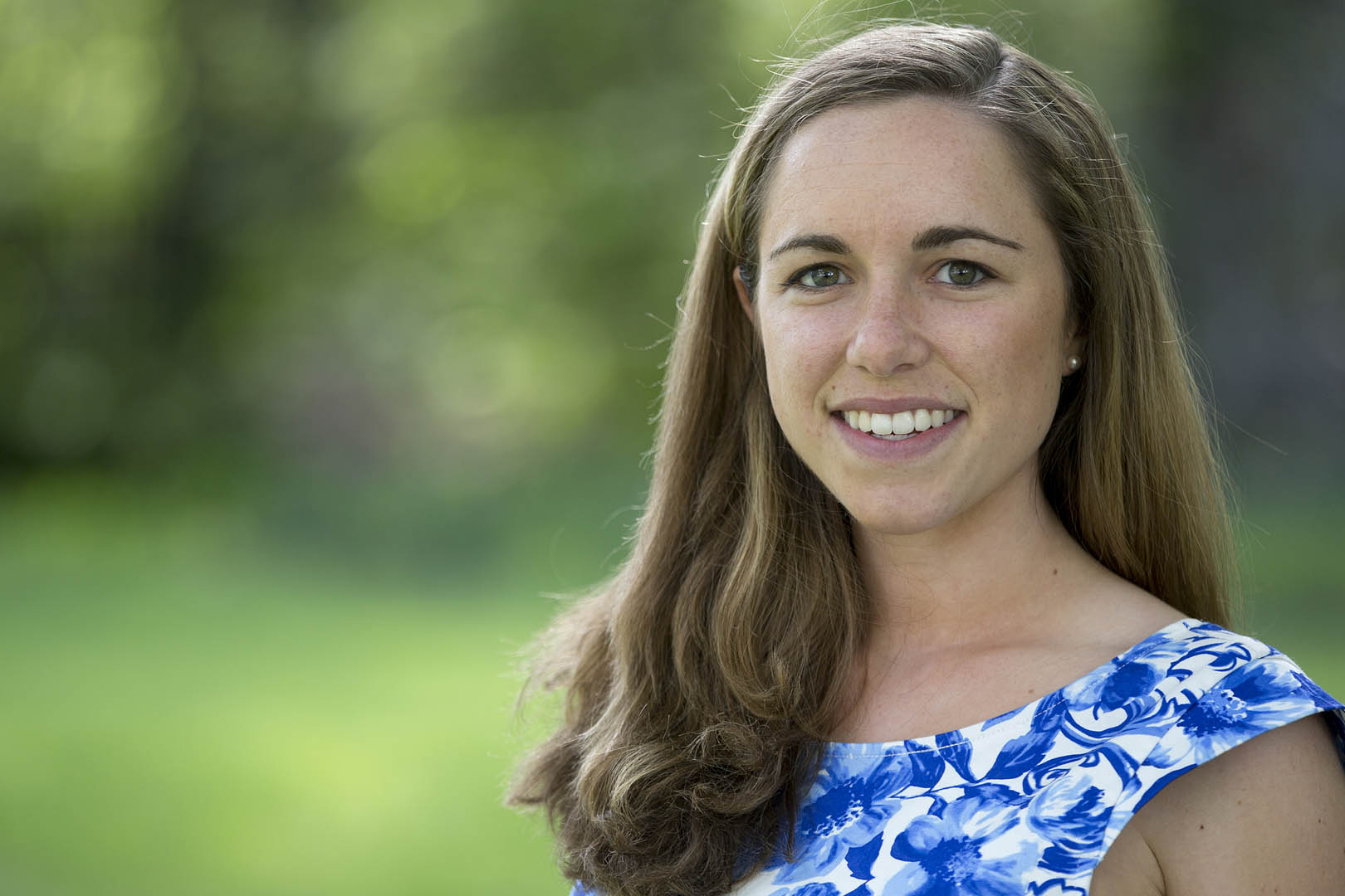 "Emily ""Libby"" Egan was one of four seniors to be honored by the Harward Center for outstanding community-engaged academic work. Photograph by Phyllis Graber Jensen/Bates College."