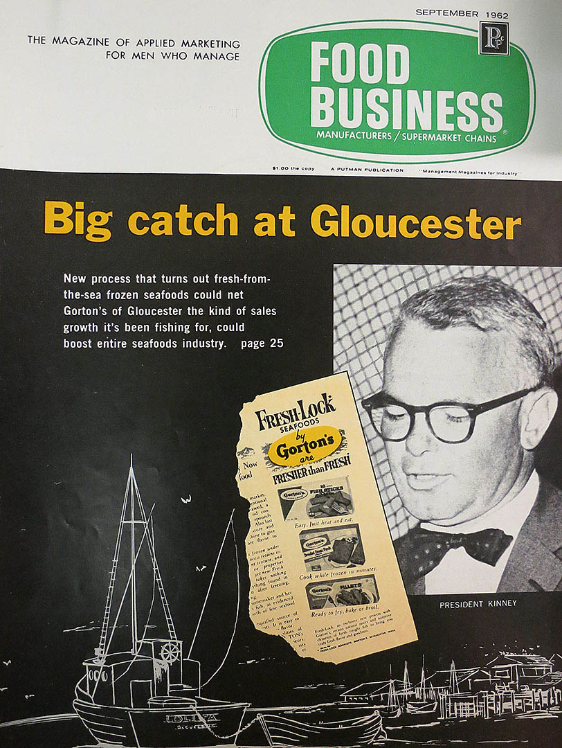 In the 1950s, Kinney was at the forefront of new food technology at Gorton's, the first company to deliver ready-to-cook breaded fish products.