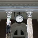 Hathorn Hall's columns get stripped down and freshened up