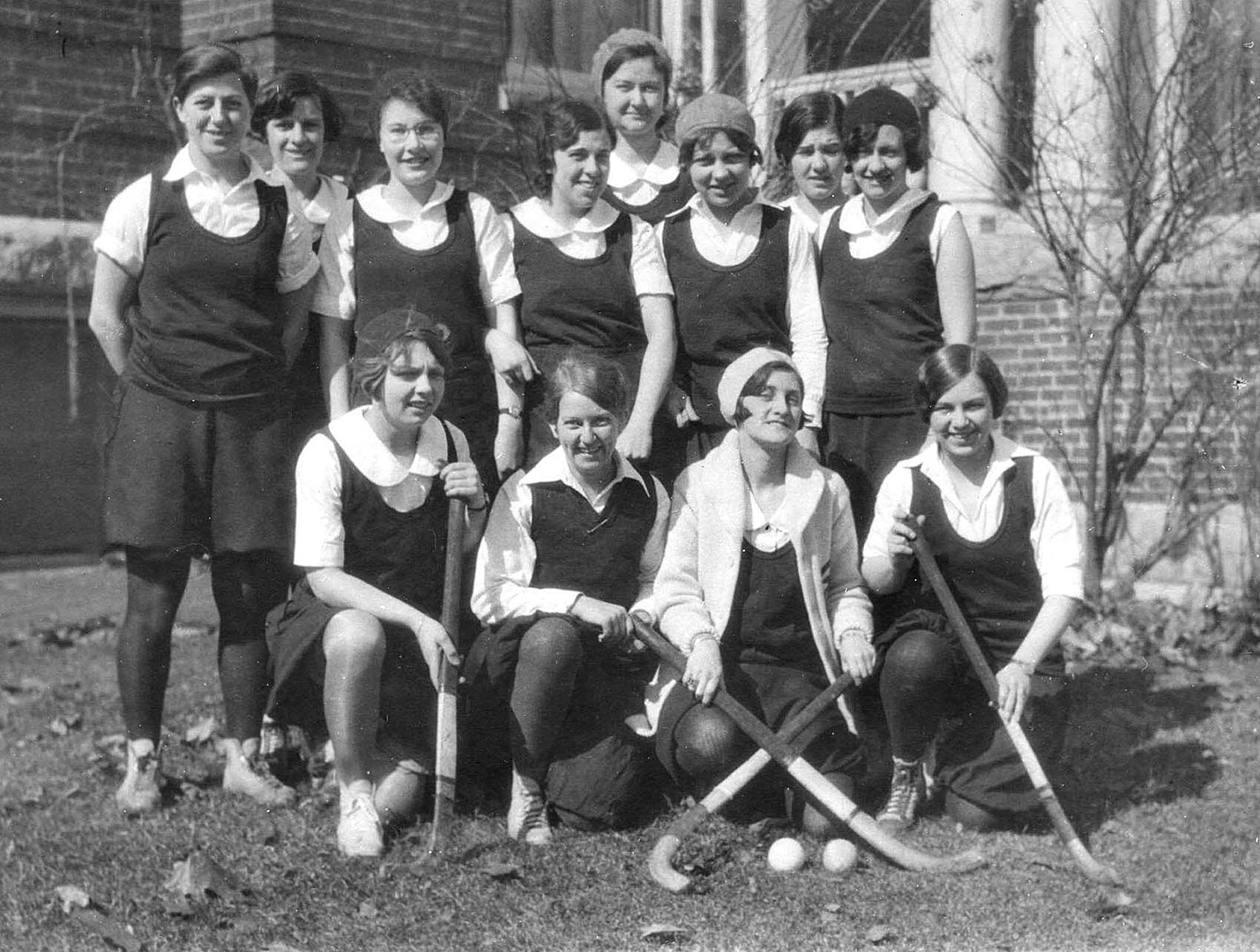 The championship intramural field hockey team of 1930. As it did in its first year of 1929-30, the Bates Fund provides annual financial support to academics and student life. Photo courtesy of the Muskie Archives and Special Collections Library.