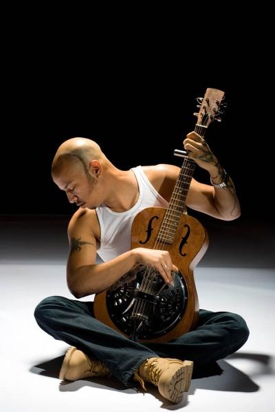 Portland-based blues musician Samuel James. Photograph by Jon Reece.