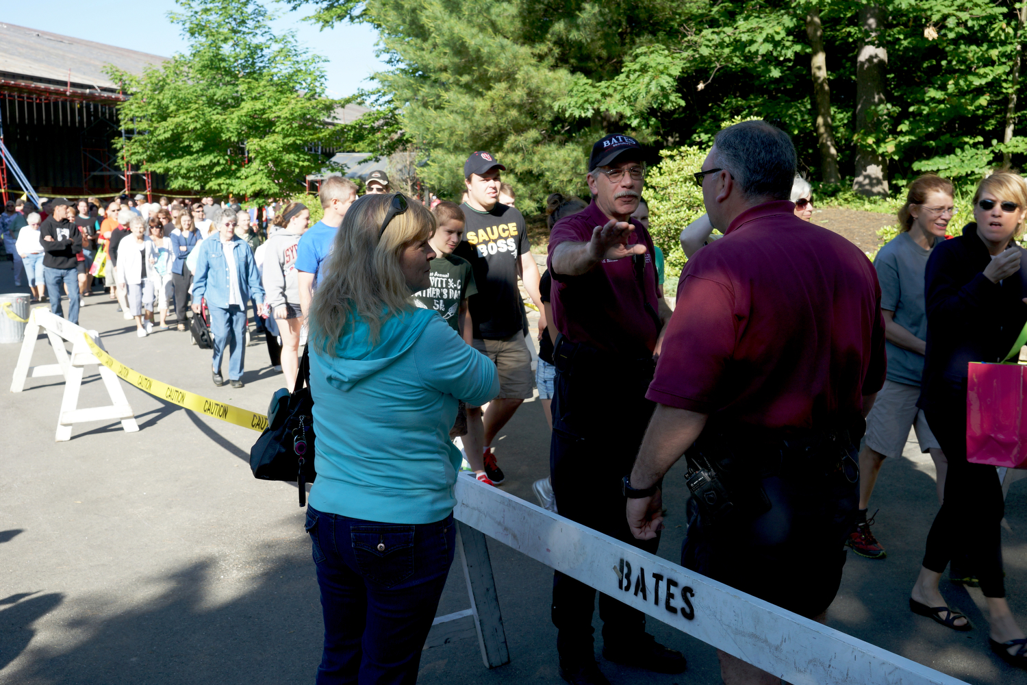 Bates' Clean Sweep sale always draws a crowd. Photograph by Vasu Leeaphon '15/Bates College.