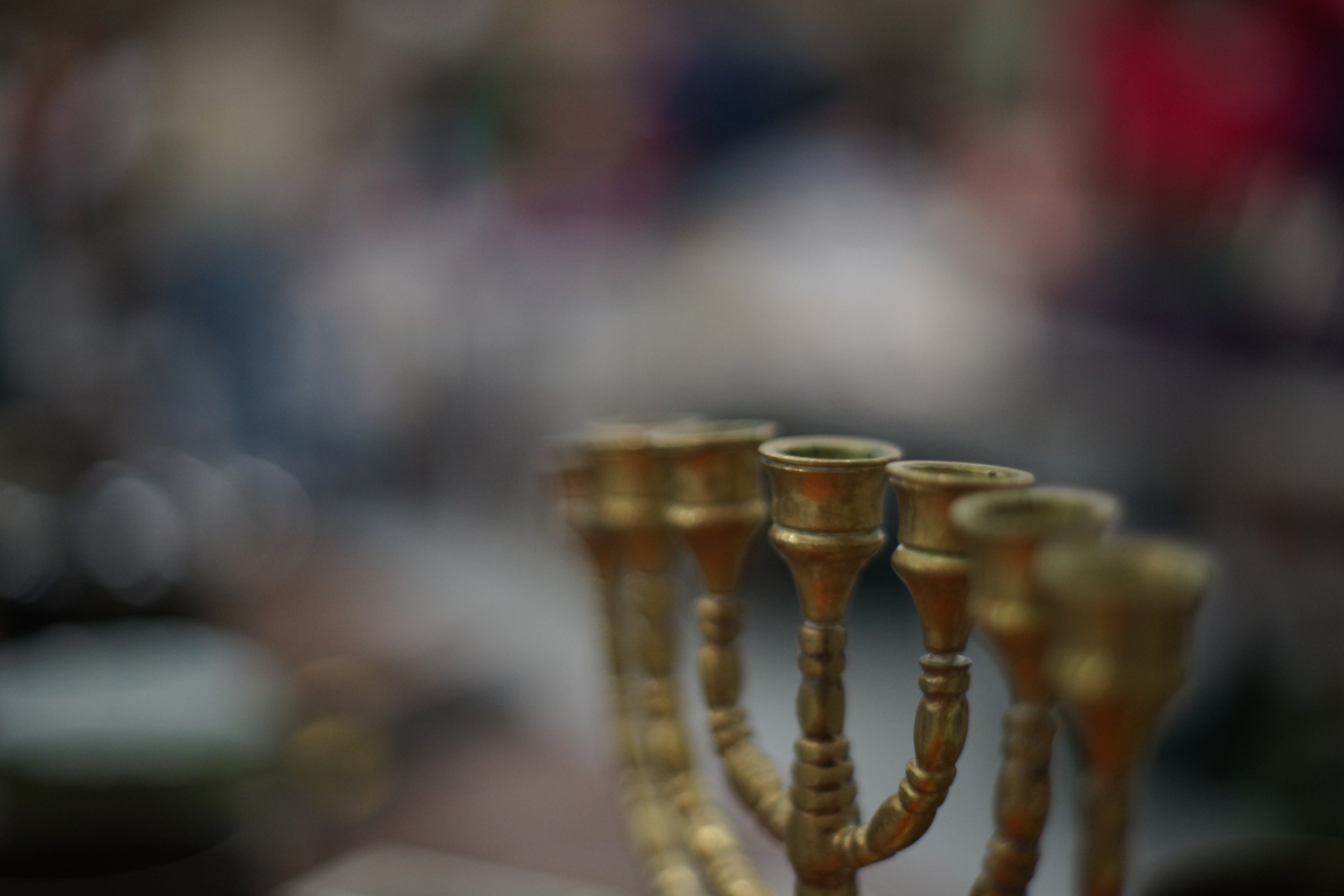 A menorah. Photograph by Vasu Leeaphon '15/Bates College.