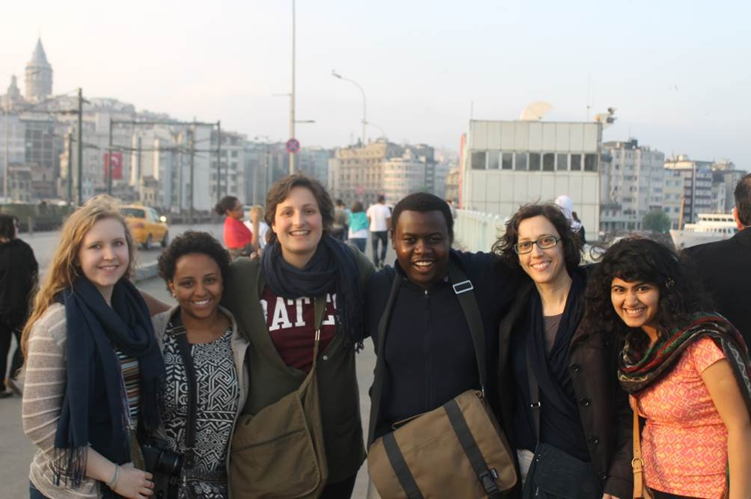 Part of the Bates group that traveled to Turkey with professor Senem Aslan, shown at the Bosphorous Bridge. I became very good friends with everyone in the group because we did a lot of activities together. Sometimes I felt I was having the best time of my life. Phillip Dube '16/Bates College.
