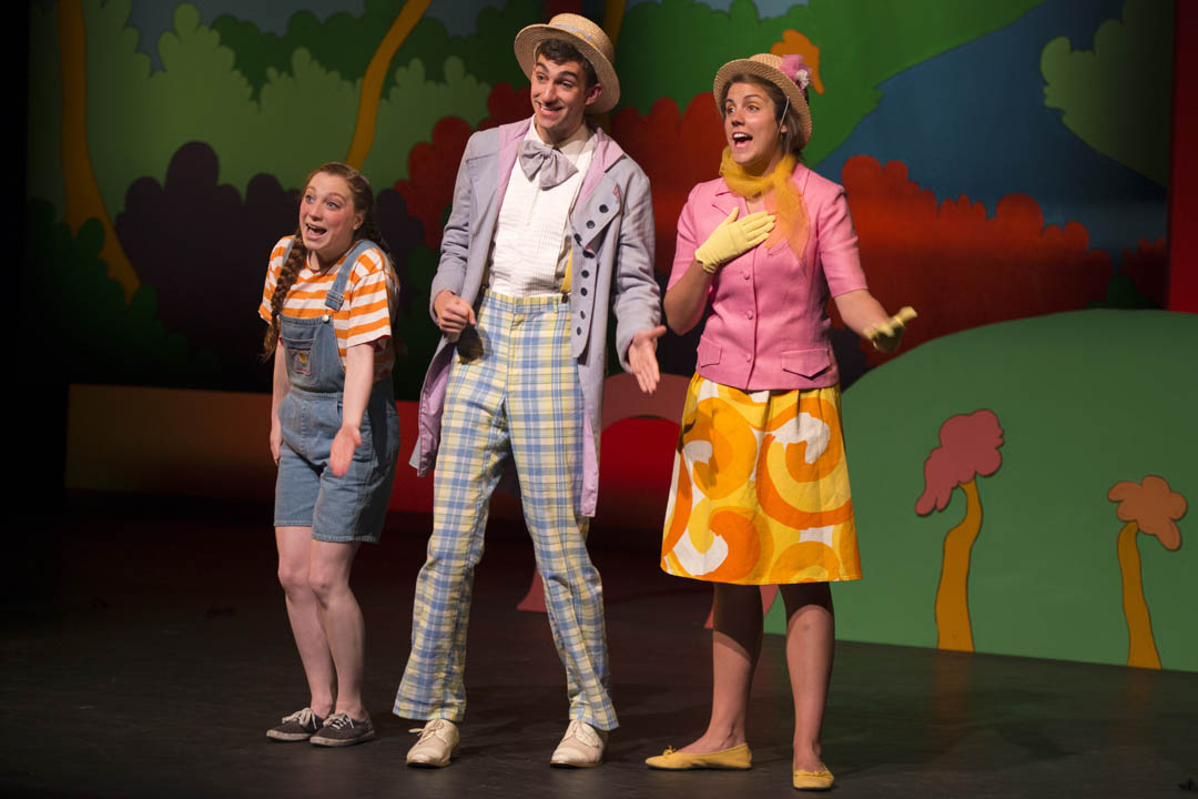 "Members of the Robinson Players perform ""Seussical the Musical"" on May 17, 2013. (Mike Bradley/Bates College)"