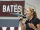 Olympic gold medalist Misty Hyman visits Bates swim camp