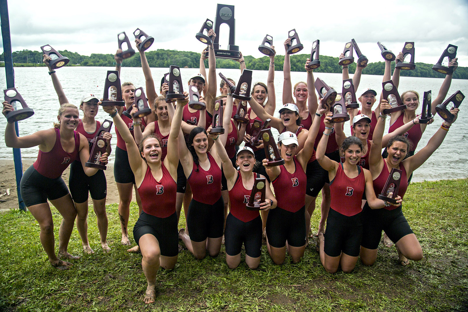 Women's rowing took their fifth consecutive silver medal at the 2013 NCAA Division III Championships in Indiana this spring. Mike Bradley/Bates College.