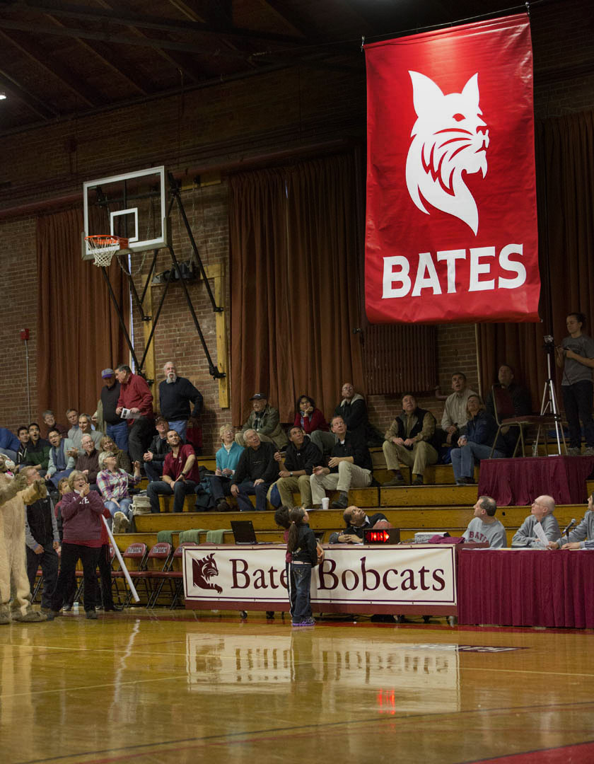 The Bates Bobcat revealed a bold new look at a festive unveiling in January. Phyllis Graber Jensen/Bates College.