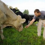 Gabe Clark '02 tells Bangor Daily News that grass-fed beef is where it's at