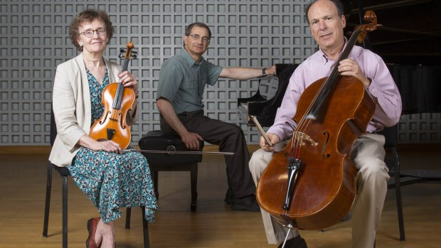 Trio les Amis: Mary Hunter, James Parakilas and Steve Witkin. (Mike Bradley/Bates College)