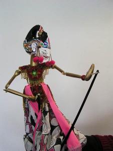 """An Indonesian """"wayang golek"""" puppet."""
