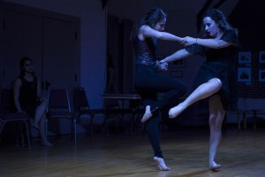 """Intricate Glances"" combines modern dance with tango, as exemplified here. (Sarah Crosby/Bates College)"