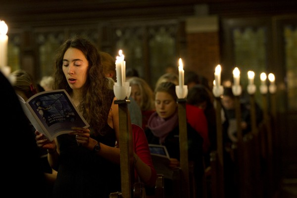 The 2011 Lessons and Carols event (see Dec. 7). (Phyllis Graber Jensen/Bates College)