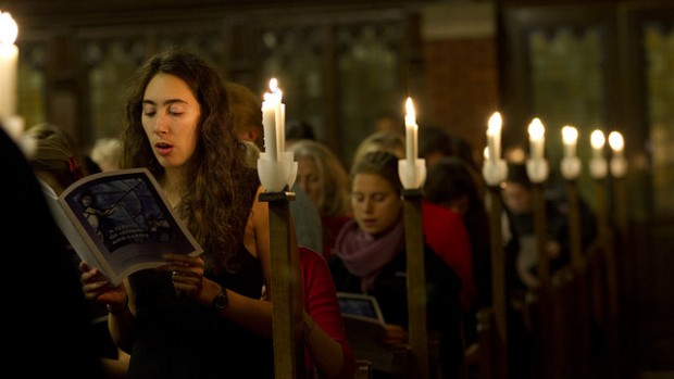The 2011 Lessons and Carols event. (Phyllis Graber Jensen/Bates College)