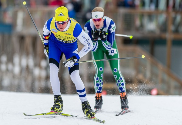 Ellefson competes at the U.S. Cross Country Championships in 2012 at Black Mountain in Rumford (Photo: Steve Fuller '81)