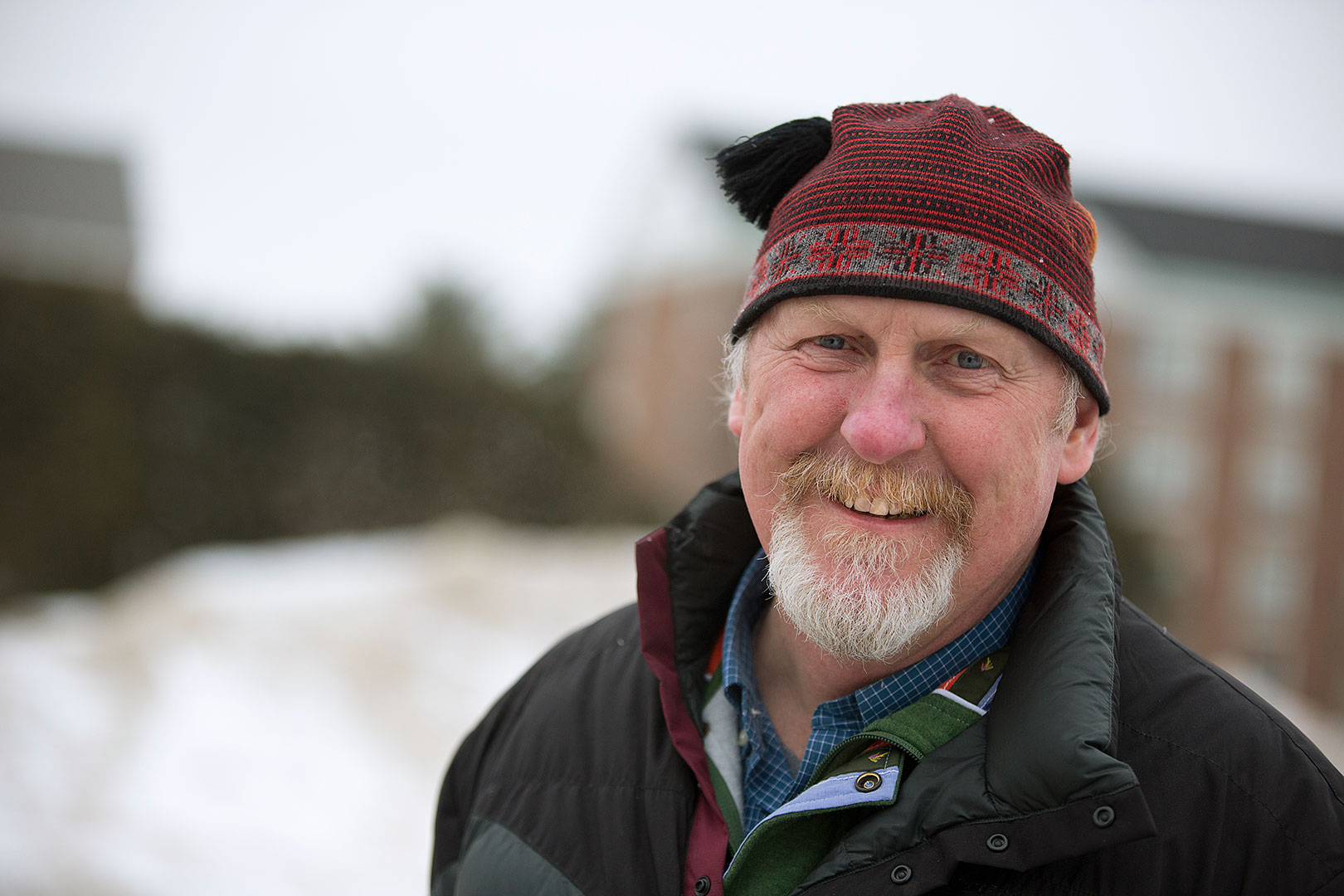 Professor of Geology Mike Retelle's research in the Arctic looks at glacial and sea level history, as well as records of climate change preserved lake sediments. (Phyllis Graber Jensen/Bates College)