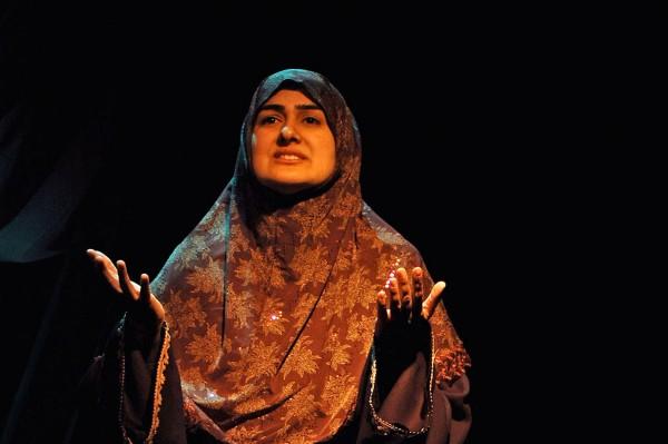 "Rohina Malik performs ""Unveiled."" (Sadaf Syed)"