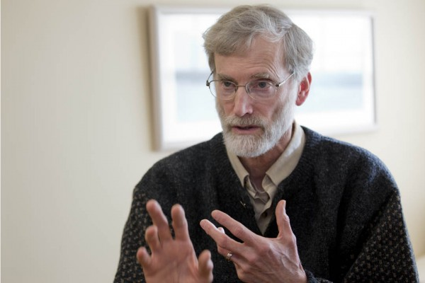 Thomas Tracy is the college's Phillips Professor of Philosophy and Religious Studies. (Phyllis Graber Jensen/Bates College)