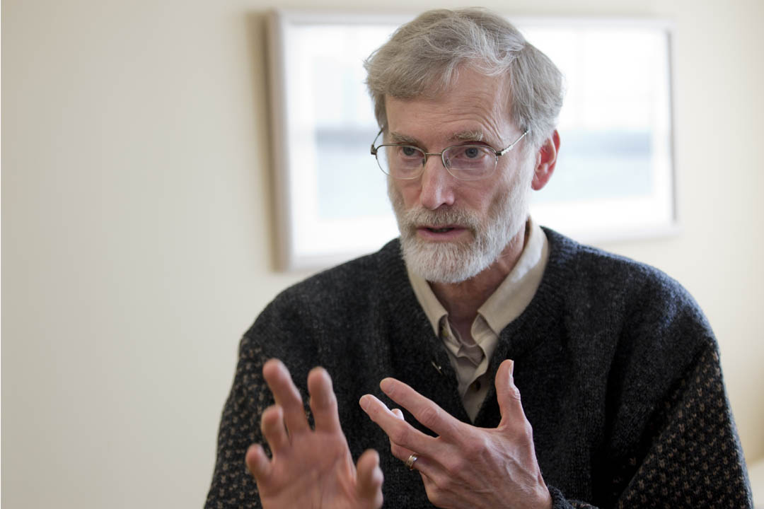 Thomas Tracy has received the 2014 Kroepsch Award for Excellence in Teaching. He's the Phillips Professor of Philosophy and Religious Studies. (Phyllis Graber Jensen/Bates College)
