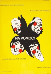"Advertising the Beatles film ""Help!"" (""Na Pomoc!""), this 1967 poster is by Eryk Lipinski."