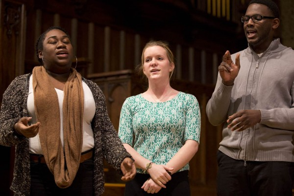 Members of the Gospelaires perform during Bates' 2014 Martin Luther King Jr. Memorial Service in January.