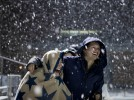 Slideshow: Lights, camera, lax action on snowy Garcelon Field