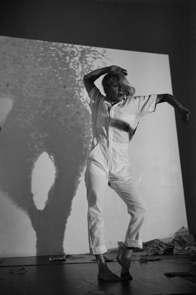 "Kathleen Hermesdorf of ALTERNATIVA performs ""apparition."" (Yvonne M. Portra)"