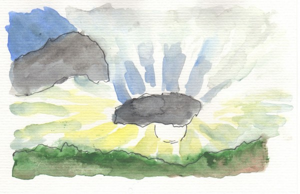 Above is a watercolor that oceanographer Gregory Johnson '85 created, along with haiku to illustrate various concepts about climate change. (Copyright Gregory Johnson)