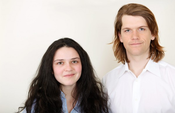 Bates seniors Simone Schriger and Brian Kennedy are recipients of 2014 Watson Fellowships. (Sarah Crosby/Bates College)