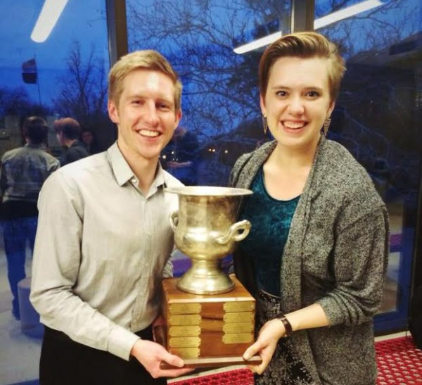 Jac Stewart '14 and Taylor Blackburn '15. (Brooks Quimby Debate Council)