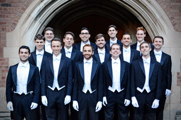 The Whiffenpoofs. Nimal Eames-Scott is shown at front center. (Courtesy of the Whiffenpoofs)