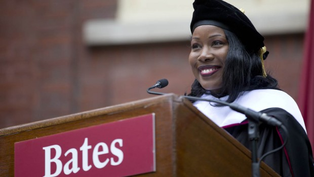 Isabel Wilkerson address the Class of 2014 during  Bates' 148th commencement. (Phyllis Graber Jensen/Bates College)