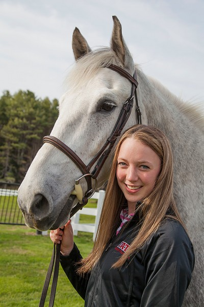 Katie Kirwin '15 of with Otis.
