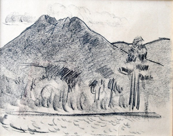 """Katahdin No. 4"" is a drawing made circa 1940 by Marsden Hartley."