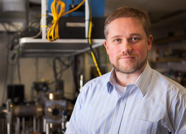 Assistant Professor of Physics Nathan Lundblad. (Sarah Crosby/Bates College)