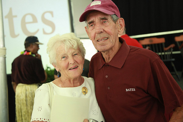 William J. Chick Leahey Jr. '52 poses with his wife, Ruth, at the Annual Gathering of the Alumni Association on June 7, 2014. (H. Lincoln Benedict '09)