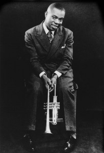 """Louis Armstrong figures prominently in """"Jazz: A Film by Ken Burns."""" (Courtesy of the Frank Driggs Collection)"""