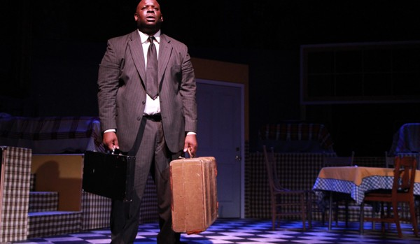 "XXX portrays XXX in the all-black production of ""Death of a Salesman,"" directed by Ozzie Jones '94. (Photo courtesy of Ozzie Jones '94.)"