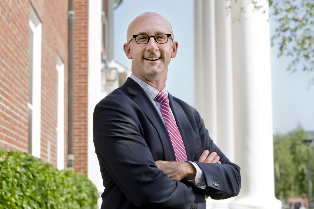 Joshua McIntosh joins Bates as the college's vice president of student affairs and dean of students. (Phyllis Graber Jensen/Bates College)