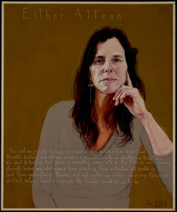 "A portrait of Esther Attean by Maine artist Robert Shetterly, from his ""Americans Who Tell the Truth"" series (see Oct. 1)."